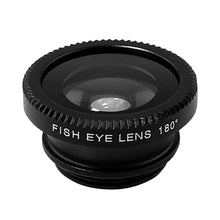 Load image into Gallery viewer, Mobile Phone Lenses - Universal 3-in-1 HD Fish Eye Smartphone Camera Lens