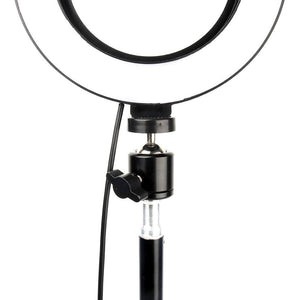 "Photographic Lighting - 8"" Selfie Ring Light With Tripod Stand & Universal Smart Phone Mount"