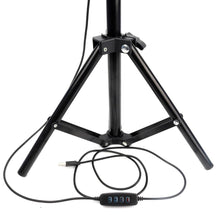 "Load image into Gallery viewer, Photographic Lighting - 8"" Selfie Ring Light With Tripod Stand & Universal Smart Phone Mount"