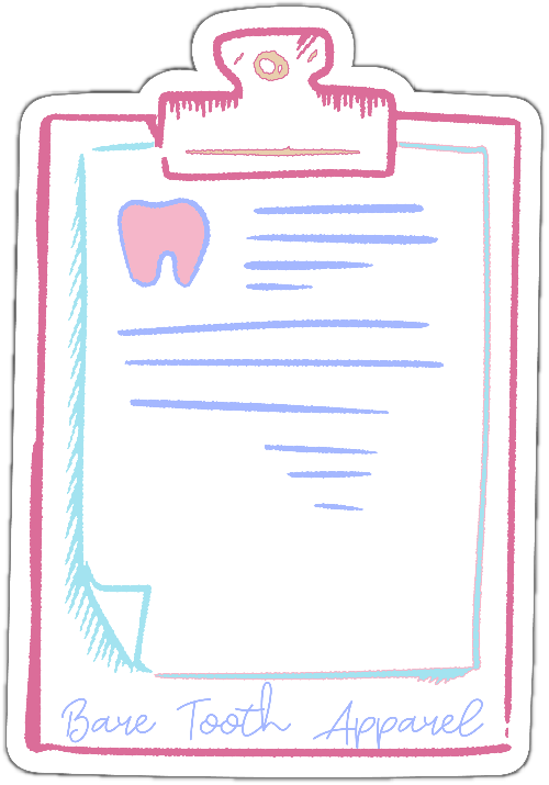 Tooth Clipboard Sticker