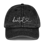 Dental Heart Vintage Dad Hat
