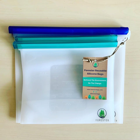 Forester reusable silicone bags ships with no packaging