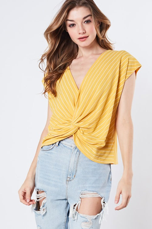 Adeline Twisted Front Top
