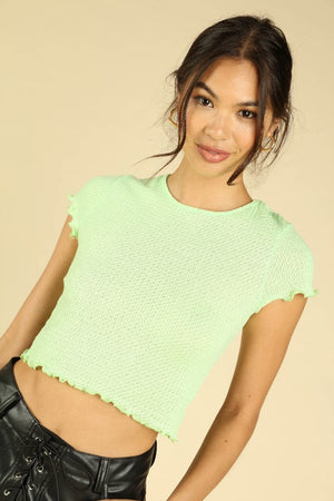 Key Lime Crop Top