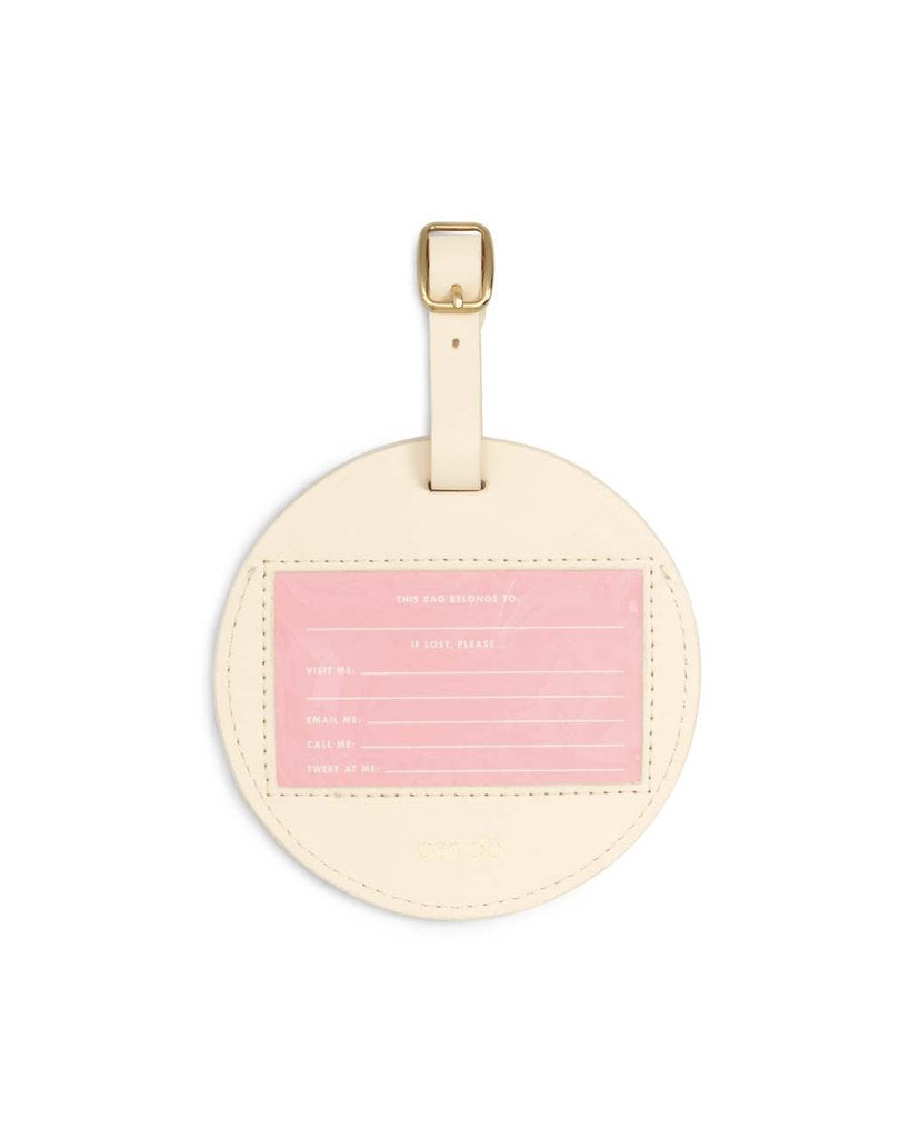 Ban.do Getaway Round Luggage Tag - Best Time