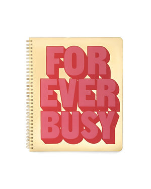 Rough Draft Large Notebook - Forever Busy
