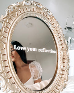 Love Your Reflection Mirror Decal