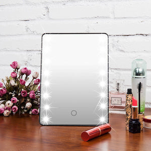 Touchscreen LED Makeup Mirror - Origami Nerd Depot
