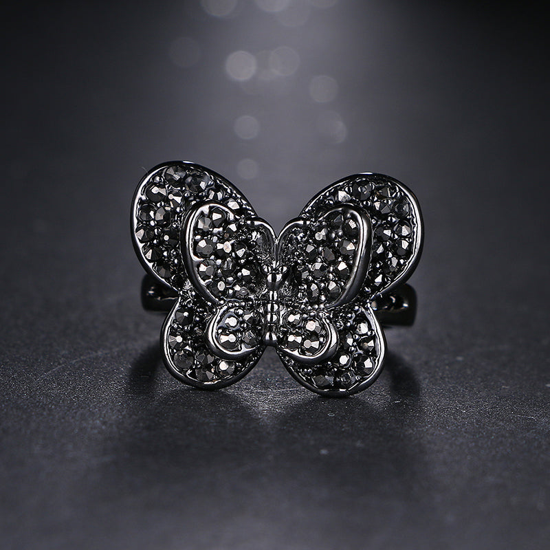 Best Friend CZ Butterfly Ring - Origami Nerd Depot