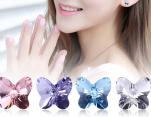 Swarovski Butterfly Earrings - Origami Nerd Depot