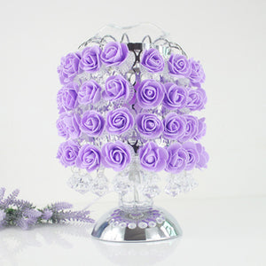 Gorgeous Purple Rose Modern Table Lamp - Origami Nerd Depot