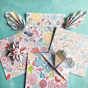 Origami Antique Floral Folding Craft Paper - Origami Nerd Depot