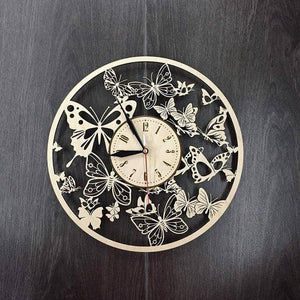 Origami Fantasy Butterfly Wall Clock - Origami Nerd Depot