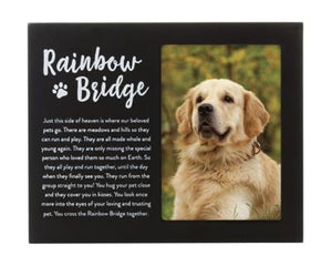 Rainbow Bridge Pet Memorial Frame