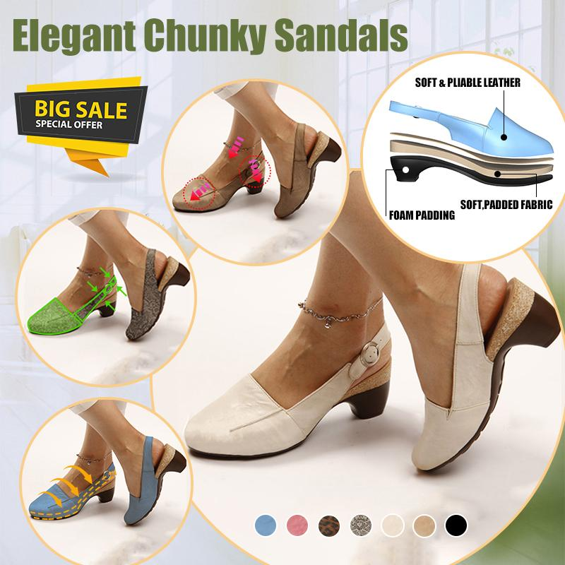 2019 New-in Comfortable & Steady Chunky Heel Sandals