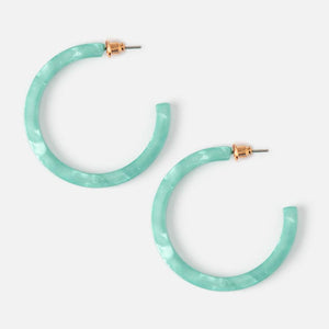 Mint Resin Hoops