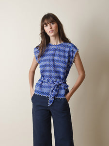 Swiss Embroidery Box Cut Top