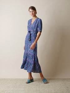 Lavender Prairie Print Midi Dress