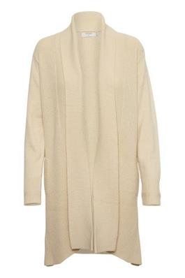 Cream Longline Knit Cardigan