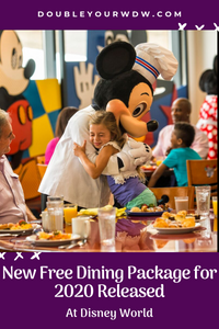 Free Dining for Kids Package Released for 2020