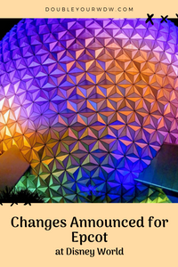 Changes at Epcot