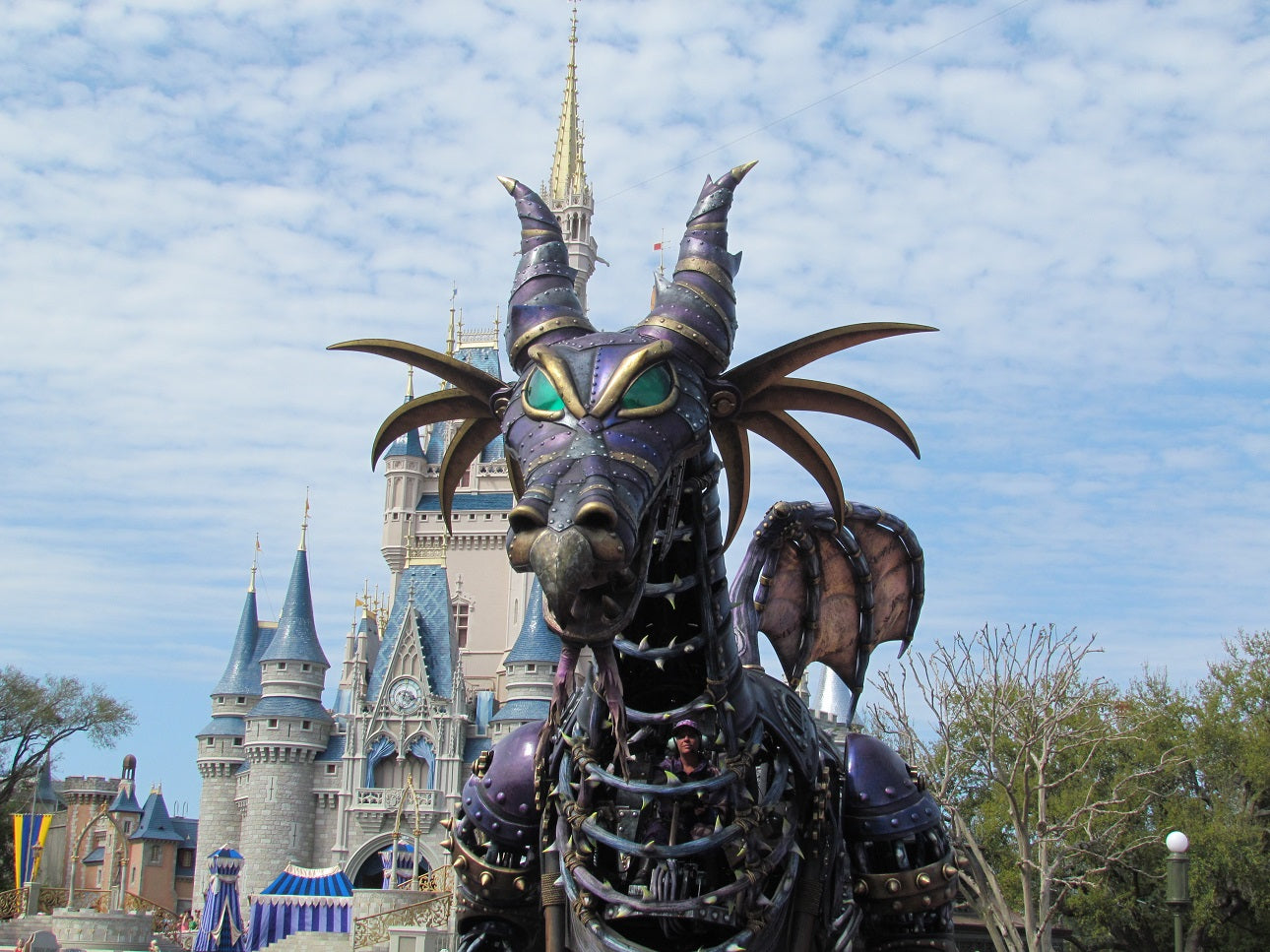 Malificent at Festival of Fantasy Parade