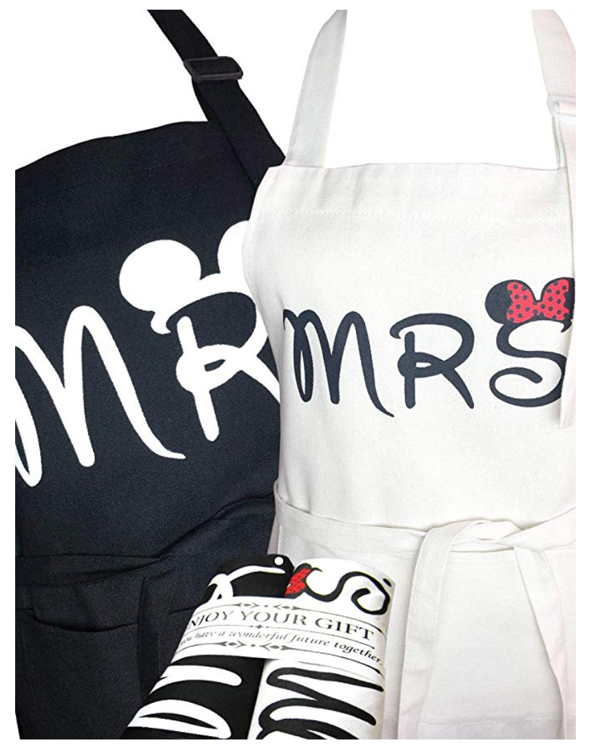 Mr and Mrs Mickey and Minnie aprons