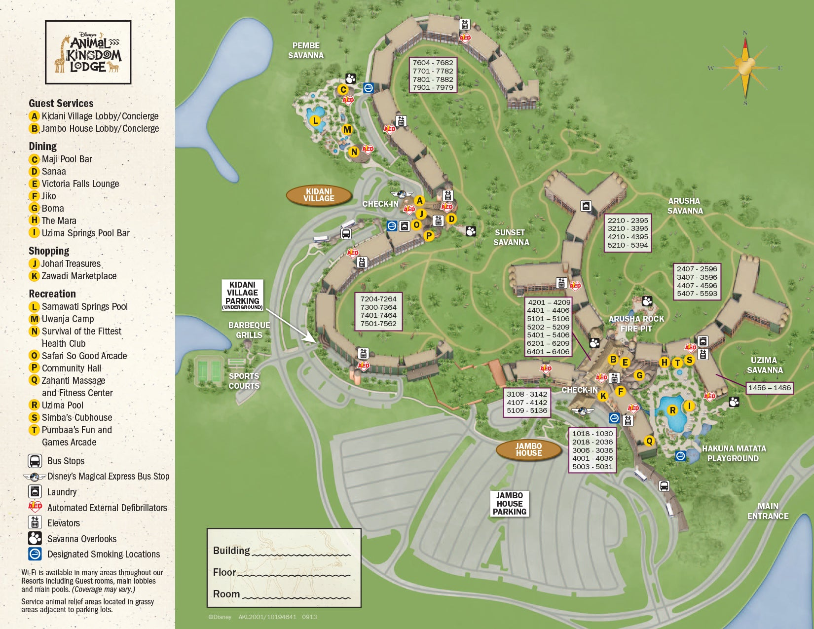 animal kingdom villas map