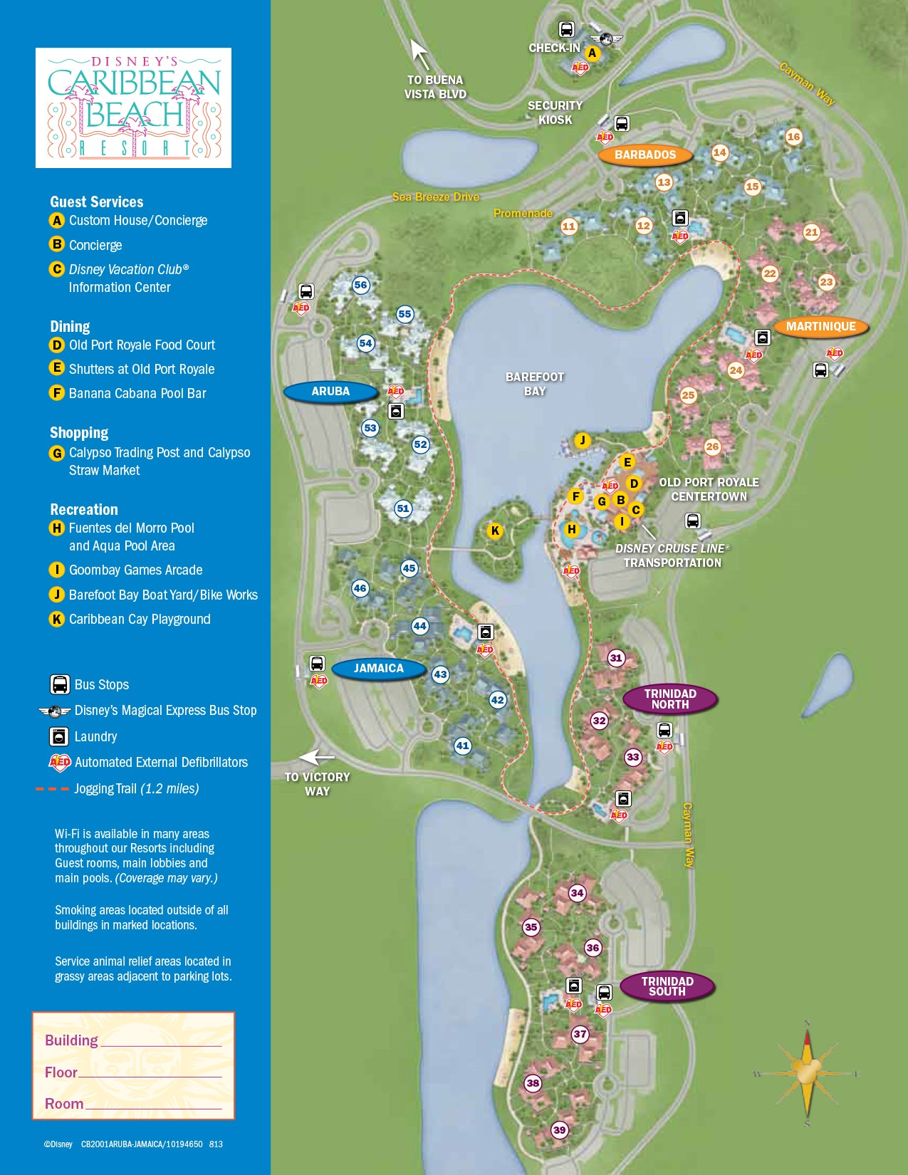 Caribbean Beach Resort Map