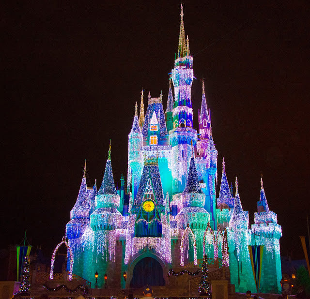 Elsa lights up the Magic Kingdom