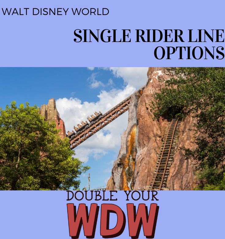 Which rides have single rider at Disney World?