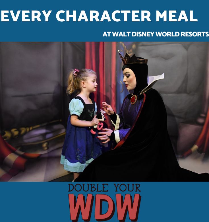 Every character meal at disney world