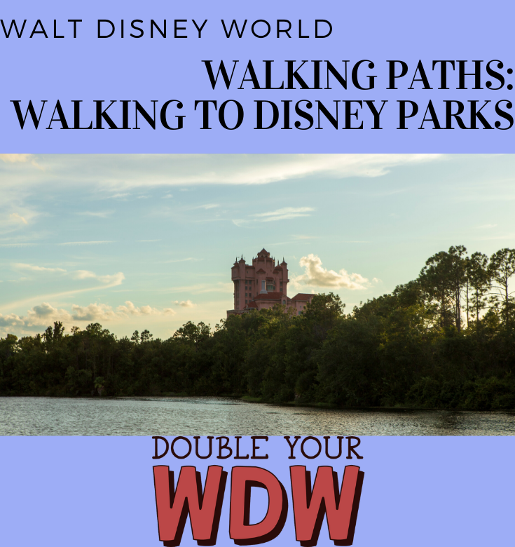 walt disney world walking paths: walking to disney parks
