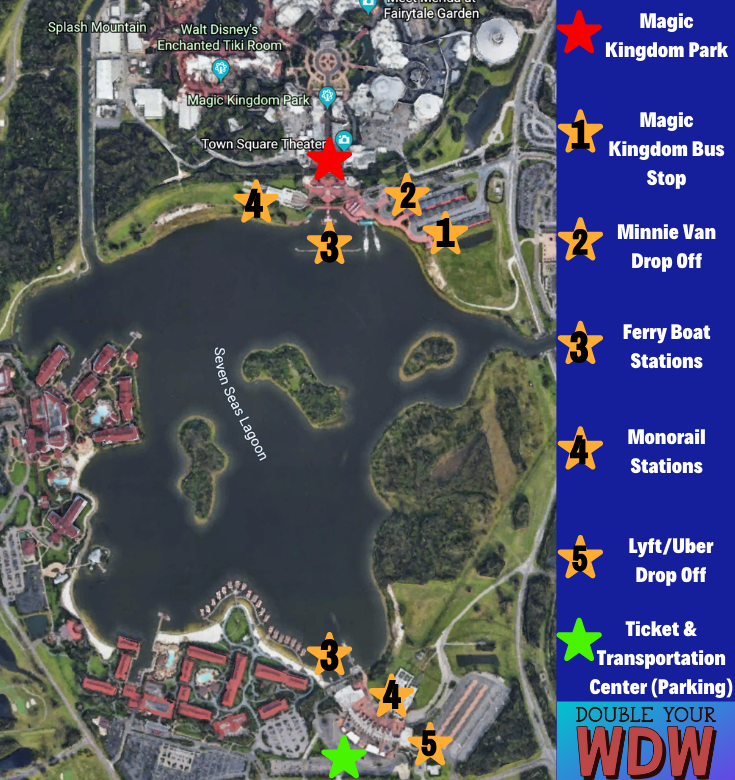 Magic Kingdom transportation map