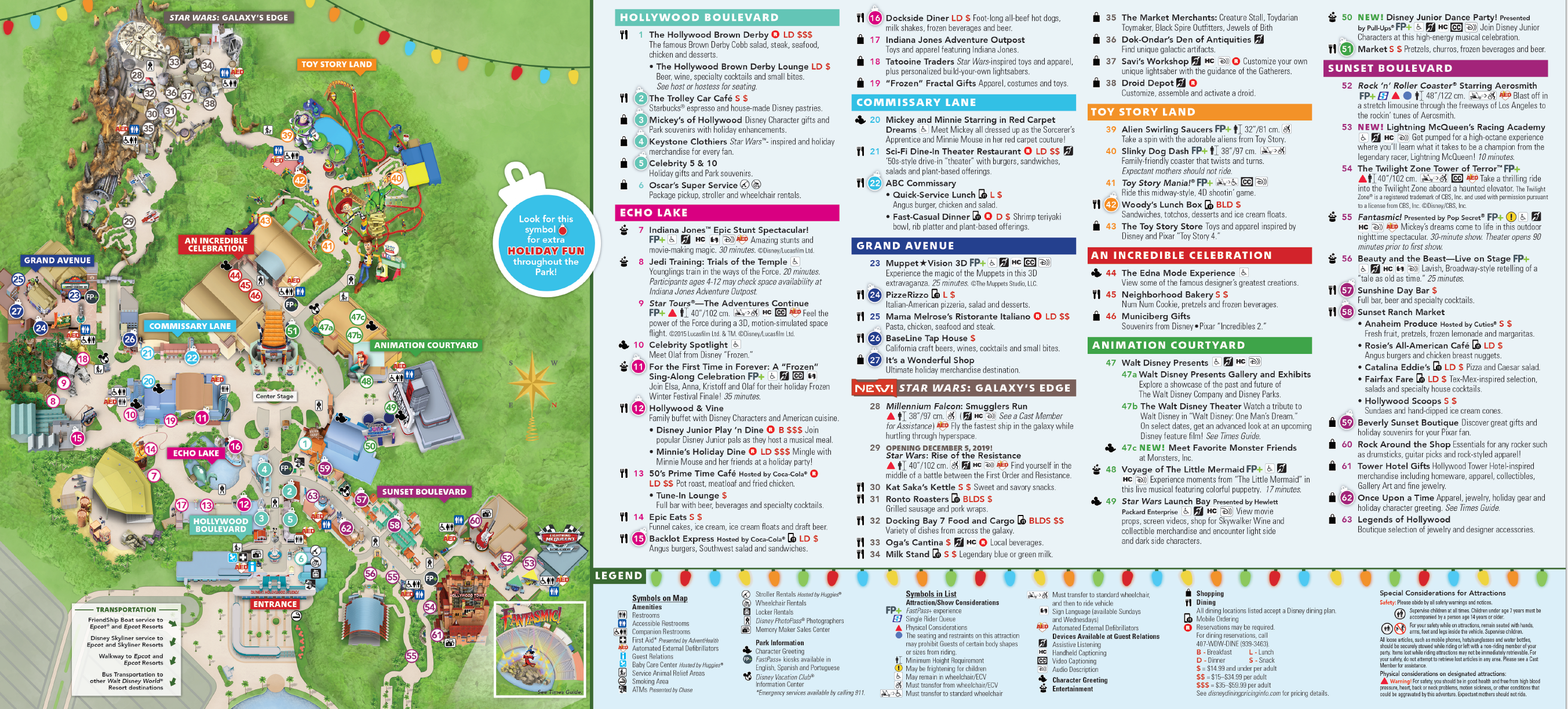 Hollywood Studios Park Map Download