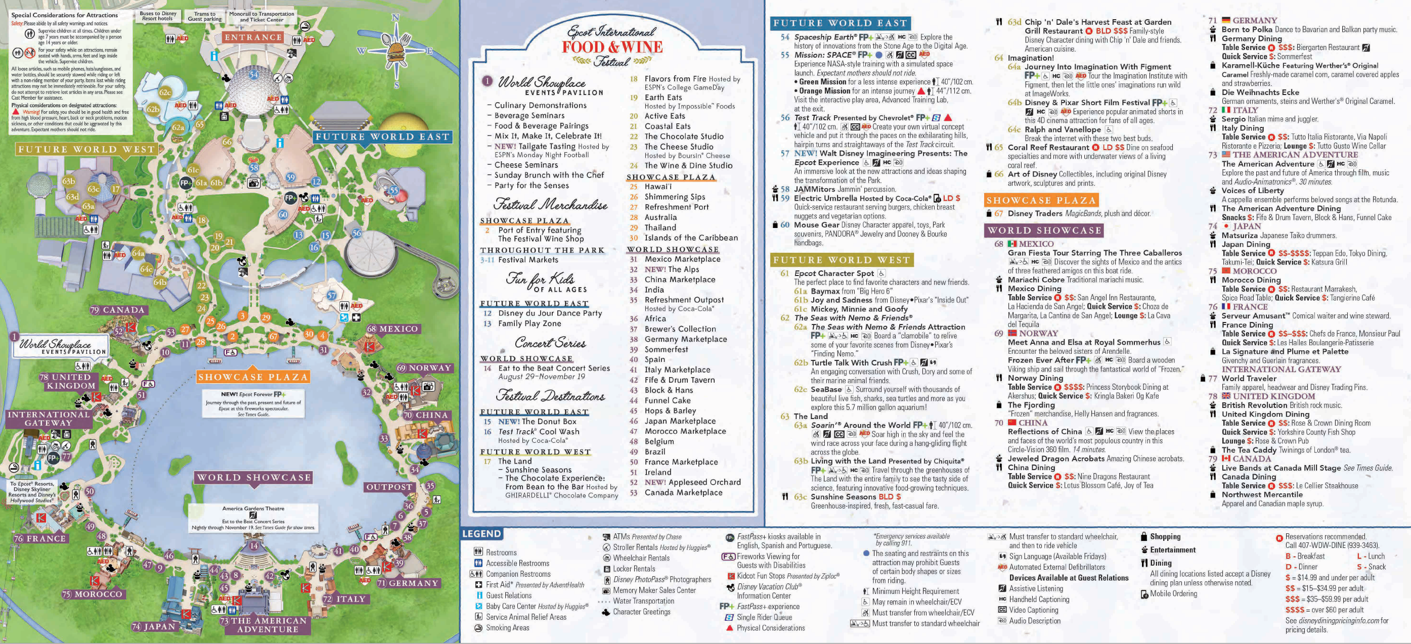 Epcot Park Map Downloadable