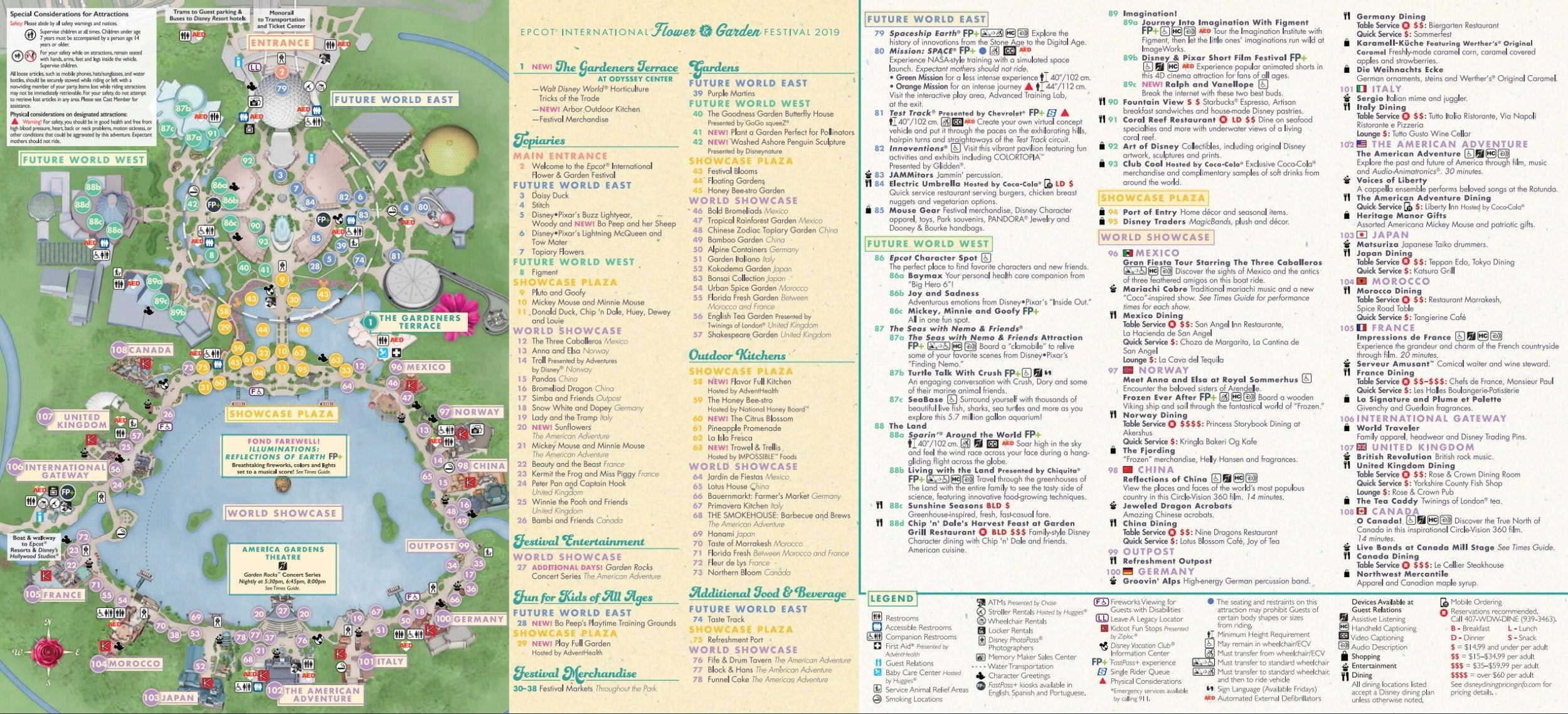 Epcot Flower and Garden Map