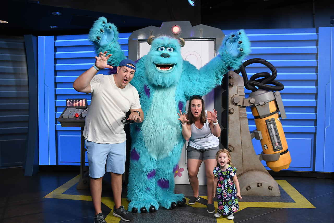 Mike and Sully meet and greet