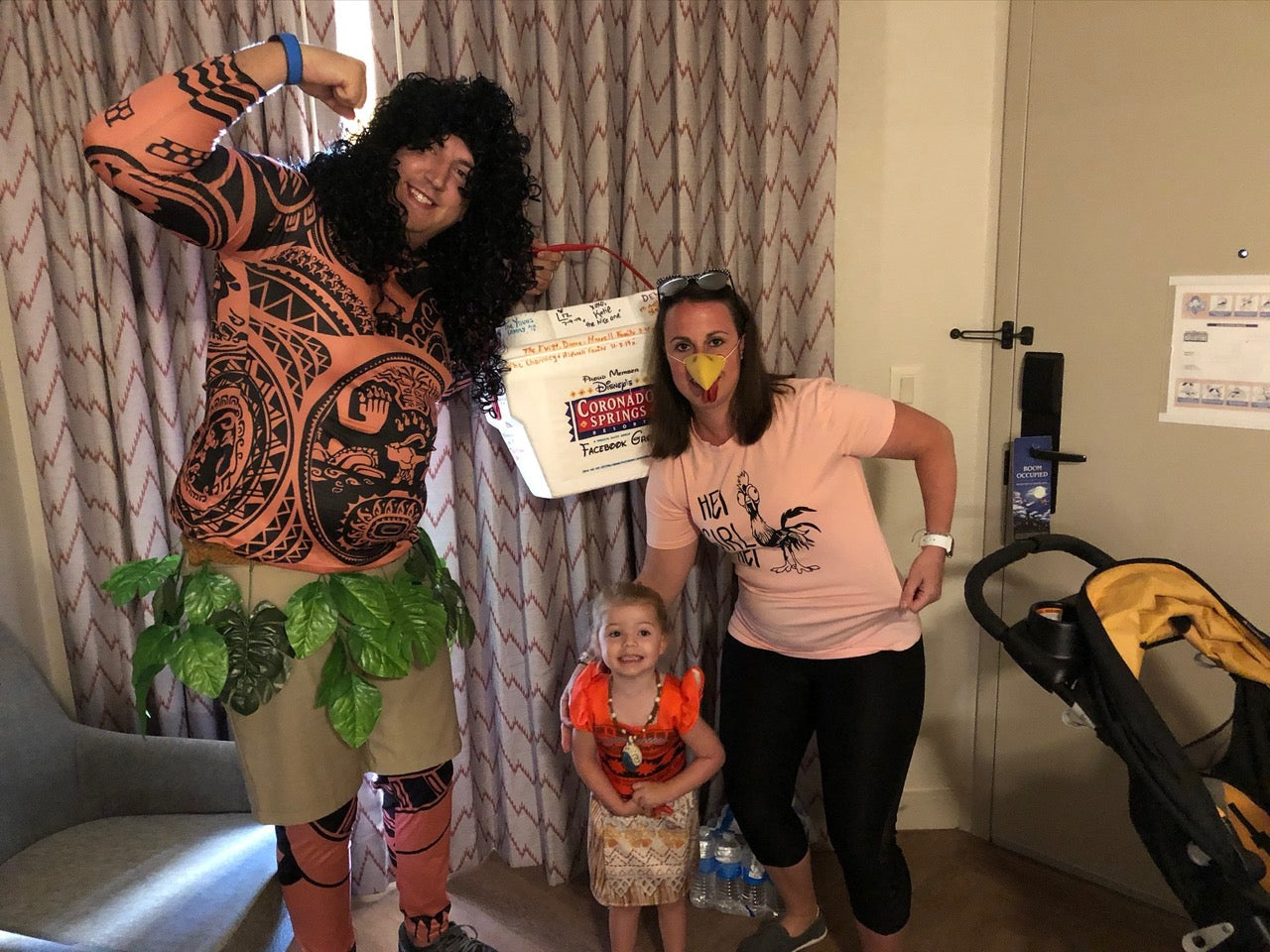 Moana family themed halloween party costumes
