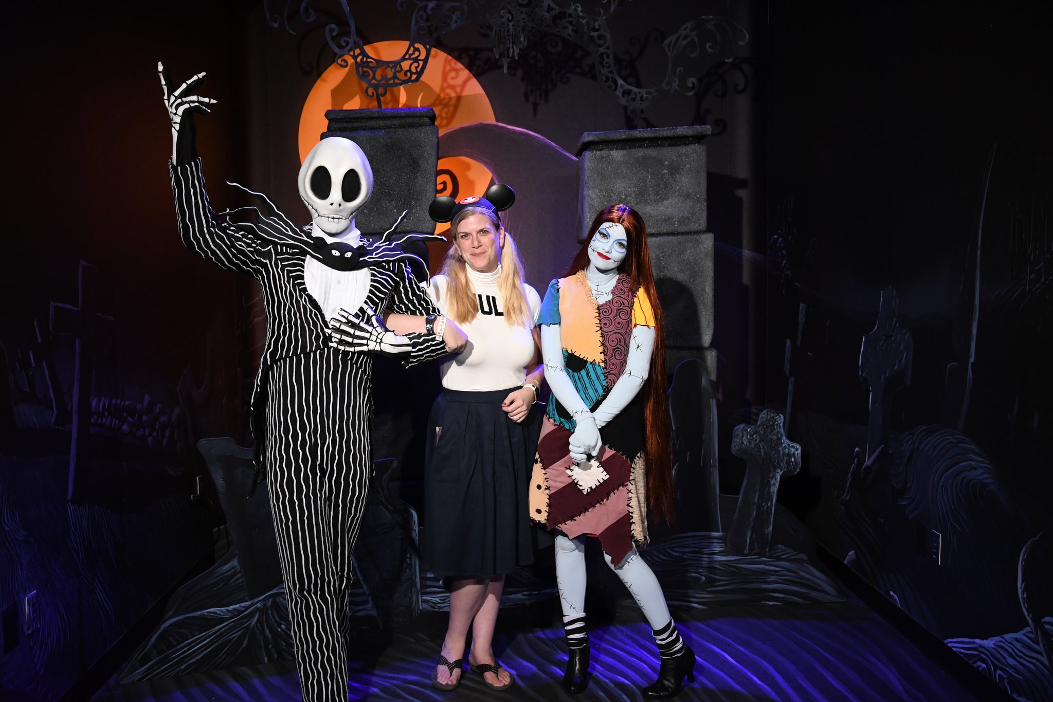 Jack Skellington and Sally character meet and greet