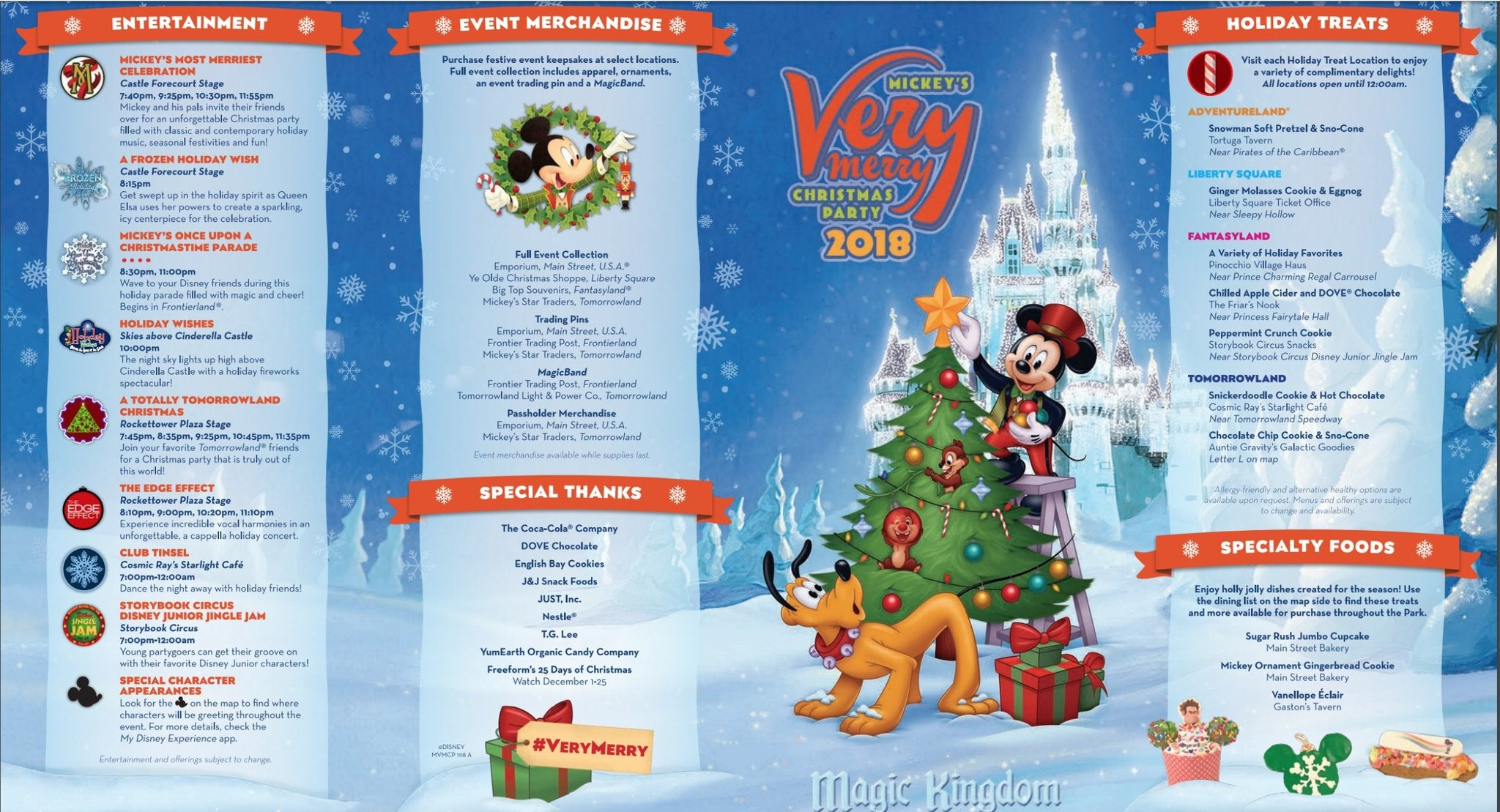 Mickey's Very Merry Christmas Party Map Download