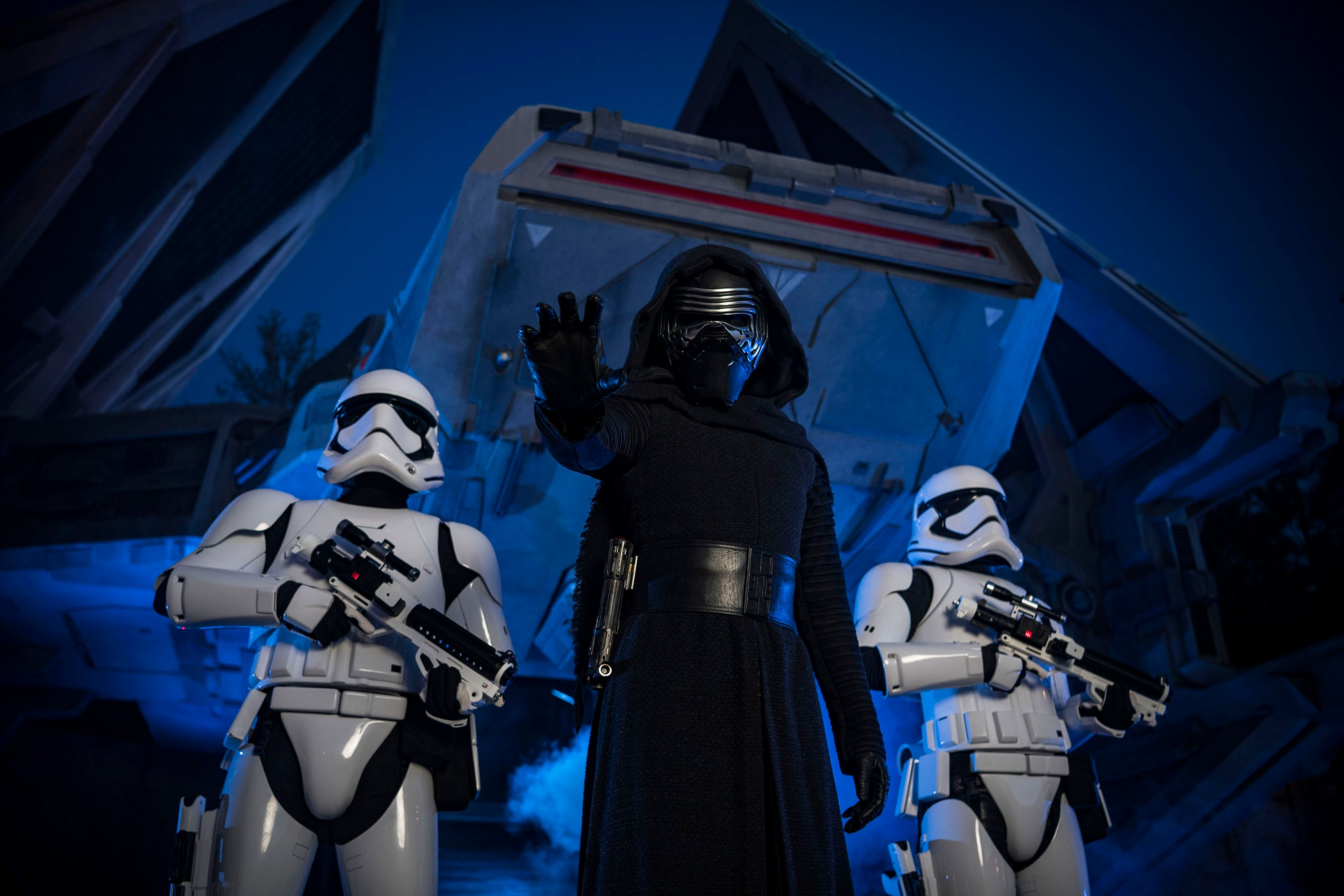 Kylo Ren and Storm Troopers characters