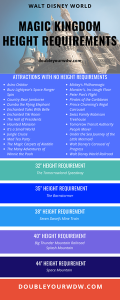 magic kingdom height requirements