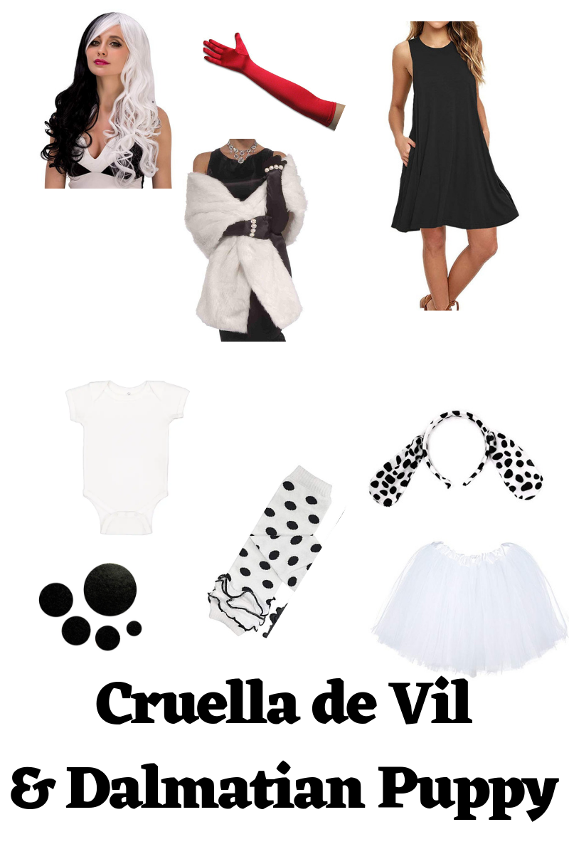 Cruella de Vil and Dalmatian puppy