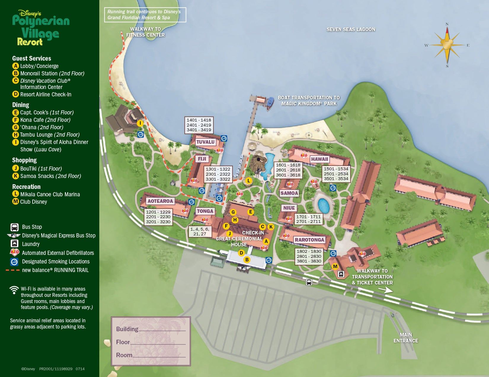 Polynesian Resort map