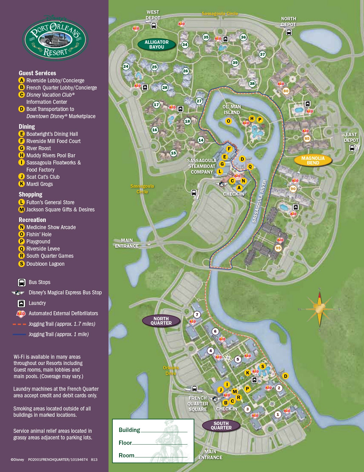 Port Orleans Riverside Map