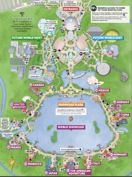picture about Printable Epcot Map named pcot at Disney Planet - Double Your WDW - An Assessment of E