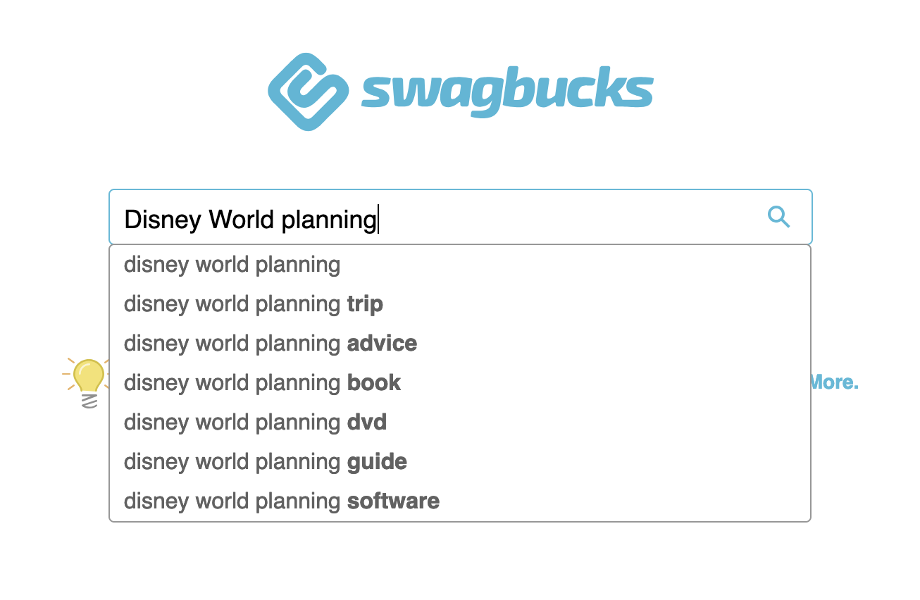 Swagbucks search tool