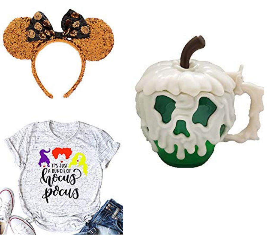 Minne Mouse Halloween Ears Hocus Pocus Shirt and Disneyland Poison Apple Mug