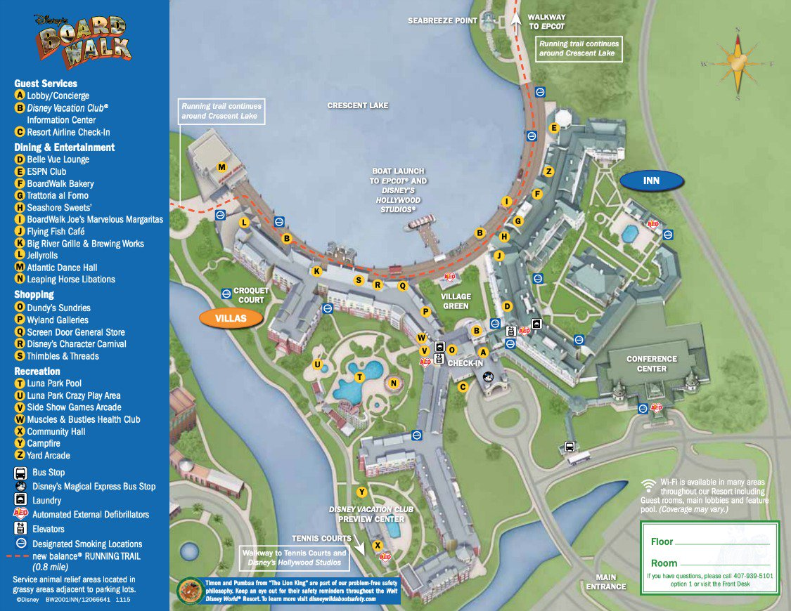 Boardwalk Villas Map
